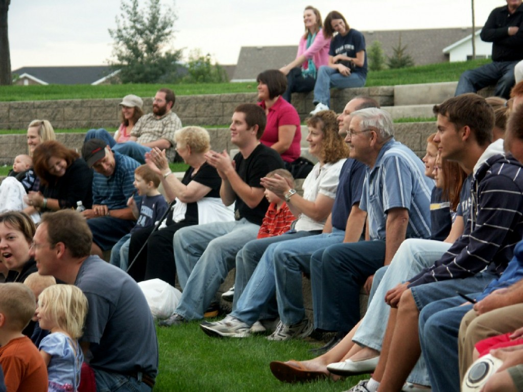 Fans enjoy Vocalocity's performance at a concert in Nibley.
