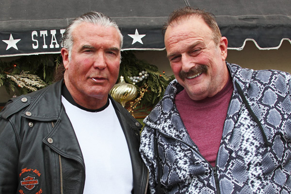 Scott Hall and a resurrected Jake the Snake at Sundance.