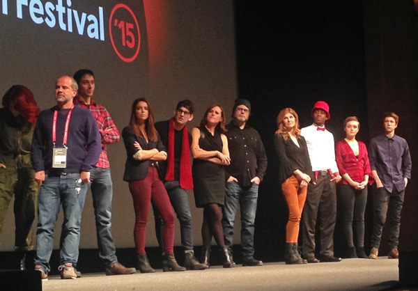 Cast of 'Me & Earl' at Sundance. (Noelle Johansen photo)