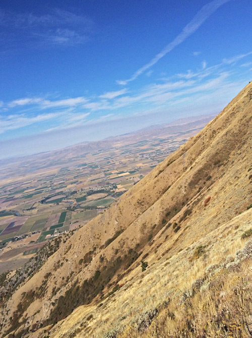 HIGH ABOVE Cache Valley, the views are breath-taking.
