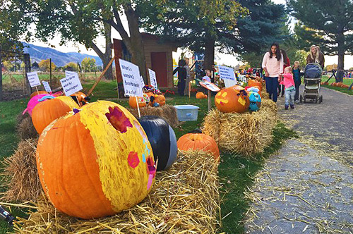 Families flock to the annual North Logan Pumpkin Walk. (Breana Bonner photo)